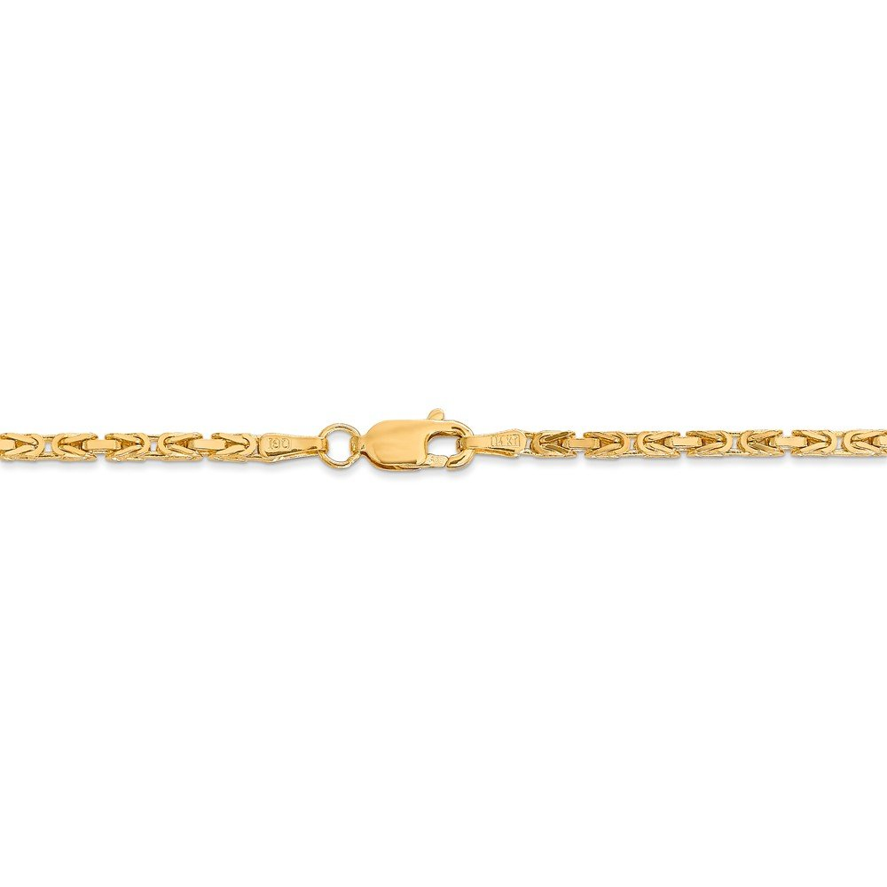 14K Yellow Gold 2mm Byzantine Chain by Jewels By Lux (Image #4)