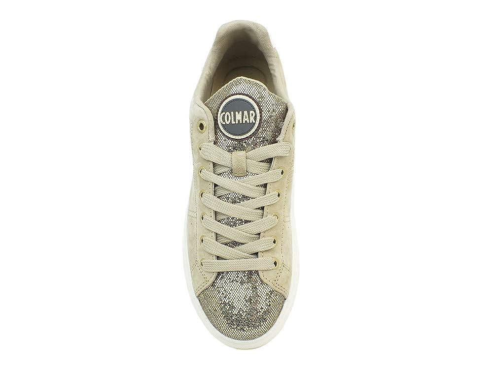COLMAR Bradbury LUX beige Gold Gold Schuhe Frau Turnschuhe schnürsenkel schnürsenkel schnürsenkel Leder Glitter ae305a