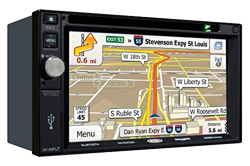 Jensen VX7022 6.2in Navigation DVD Receiver w/ Bluetooth (Renewed)