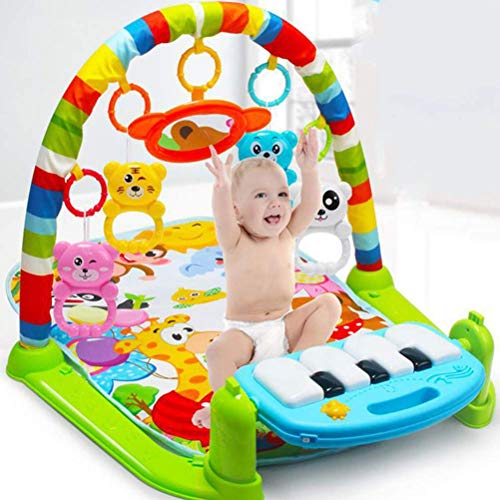 (New 3 In 1 Multifunction Soft Baby Play Activity Piano Pedal Fitness Frame Music Bed Bell Pay Gym Toy Floor Crawl Blanket)
