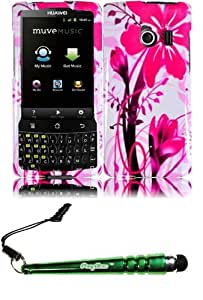 FoxyCase(TM) FREE stylus AND For Huawei Ascend Q M660 Design Cover Case - Pink Splash cas couverture