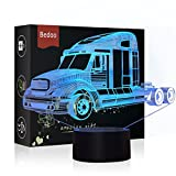 NChance Christmas Gift Magic Truck Lamp 3D Illusion 7 Colours Touch Switch USB Insert LED Light Birthday Pressie