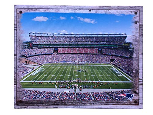 Artissimo Designs Plank Sports Stadium and Arenas Canvas Artwork (New England Patriots)