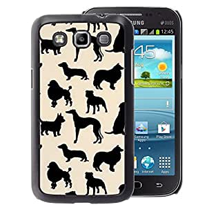 A-type Arte & diseño plástico duro Fundas Cover Cubre Hard Case Cover para Samsung Galaxy Win I8550 (Dog Species Pattern Black Beige)