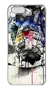 iPhone 5 5S Case Moving Castle PC Custom iPhone 5 5S Case Cover Transparent
