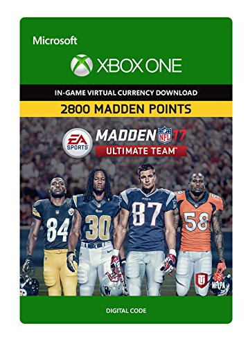 Madden NFL 17: MUT 2800 Madden Points Pack - Xbox One Digital Code (Madden Nfl 17 Standard Edition Xbox One)