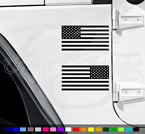 Jeep Flag Decal American Flag wrangler decals