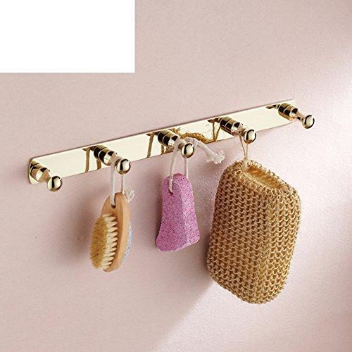 HCP-European-wide-copper-and-gold-coat-hookMetal-pendant-bathroom-towel-hook-hanging-hookSingle-row-hook-hook-A