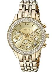Relic Womens ZR15786 Merritt Analog Display Analog Quartz Gold-Tone Watch