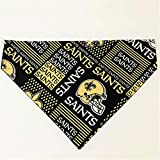 New Orleans Saints Dog Bandana No-Tie Design