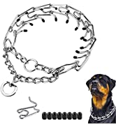 Prong Collar for Dogs,Dog Choke Pinch Training Collar, Adjustable Stainless Steel Links with Rubb...