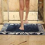 HUJKL Kitchen Rugs Non Slip Washable Large,Dirt Stopper Door Mat,Barrier Mats-Starry Blue-45x70cm