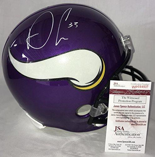 Dalvin Cook Signed / Autographed Minnesota Vikings Full Size Football Helmet - JSA Certified (Helmet Vikings Minnesota Replica Autographed)