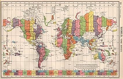 Map Of Ireland Time Zones.Amazon Com World Time Zones Uk Ireland Spain France On Same