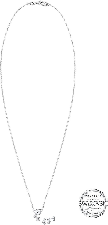 Elli Crista Parure collier et boucles doreille Argent 925
