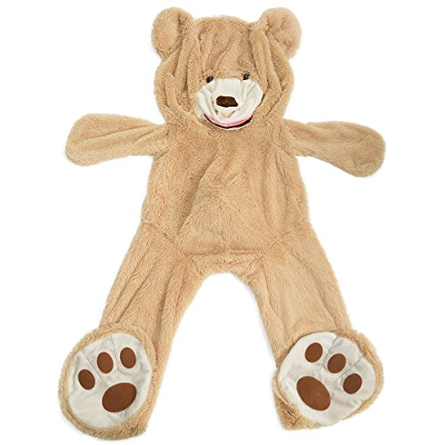 HollyHOME Teddy Bear Cover DIY Gift Huge Plush Teddy Bear Unstuffed Life Size Teddy Bear Giant Animal Toy 78 Inches Tan]()