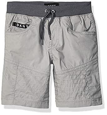 DKNY Boys' Toddler Canvas Pull-On Short, Mojito Griffin, 2T