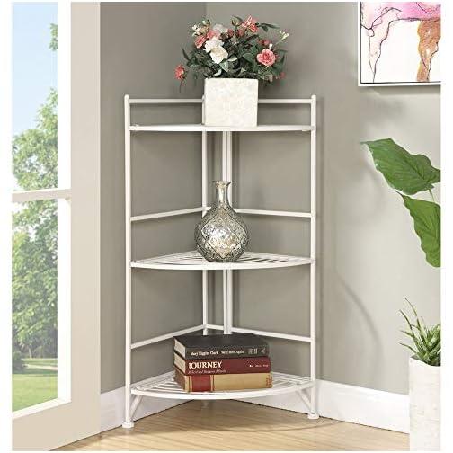 Convenience Concepts Designs2Go X-Tra Storage 2-Tier Folding Metal Shelf
