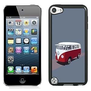 NEW Unique Custom Designed iPod Touch 5 Phone Case With Volkswagen Type 2 Hippie Van Illustration_Black Phone Case
