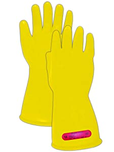 Magid Glove & Safety M-0-11-Y-7 Magid Class 0 Electrical Gloves, Capacity, Volume, Rubber, 7, Yellow