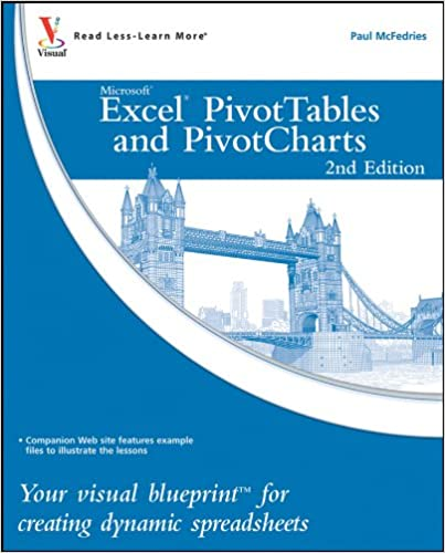 Excel Pivottables And Pivotcharts Your Visual Blueprint For
