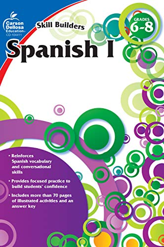 Carson Dellosa - Skill Builders Spanish I Workbook, for Grades 6-8, 80 Pages With Answer Key ()