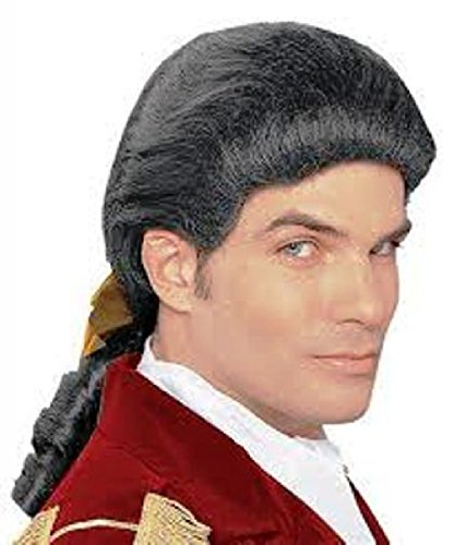 OvedcRay Adult White Brown Duke Colonial Captain Patriot George Washington Costume Wig - Adult Men's Colonial Brown Wig