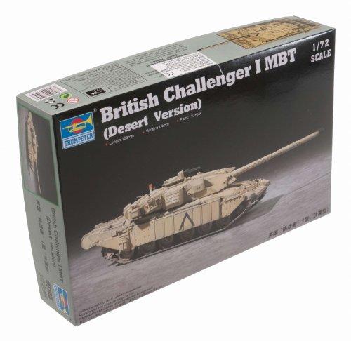 Tank Main British Battle (Trumpeter British Challenger I Main Battle Tank Desert Version (1/72 Scale))