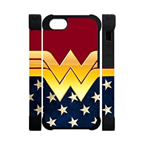Hipster Wonder Woman Apple Iphone 5S/5 Case Cover Dual Protective Polymer Cases American Flag
