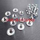 07 mustang fender bolts - Spec-D Tuning FBW-S 10PC Silver Aluminum Fender Bumper Engine Dress Up Washer Bolts Screw Kit
