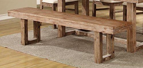 Coaster 105543 Home Furnishings Bench, Wired Brush Nutmeg