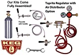 2 Faucet Refrigerator Keg Kit, Premium Taprite Regulator