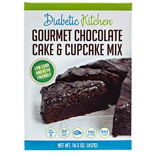 (Diabetic Kitchen Gourmet Chocolate Cake & Cupcake Mix Is Keto-Friendly, Low-Carb, No Sugar Added, Gluten-Free, 15g of Fiber, Non-GMO, No Artificial Sweeteners or Sugar Alcohols)