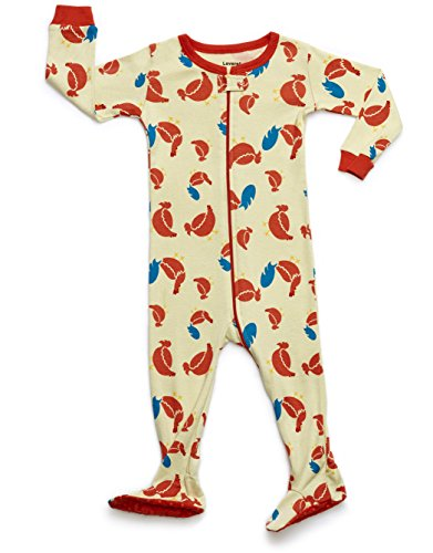 Leveret Organic Cotton Chicken Footed Pajama Sleeper 3 Years