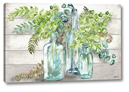 Vintage Bottles and Ferns Landscape by TRE Sorelle Studios - 7