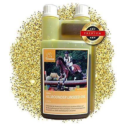 EMMA ♥ Aceite de linaza para Caballos pienso para Caballos complemento alimenticio I ácidos grasos Omega