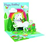 3D Pop Up greeting card - UNICORN - Happy Birthday