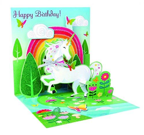 - 3D Pop Up greeting card - UNICORN - Happy Birthday