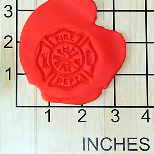 Fire Dept. Sheild Shape Cupcake Size Decorating Fondant Stamp and Handle -