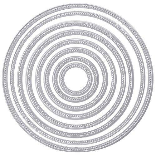 Rounds Chipboard (Circle Round Metal Cutting Dies Stencils DIY Scrapbooking Embossing Decor Craft)