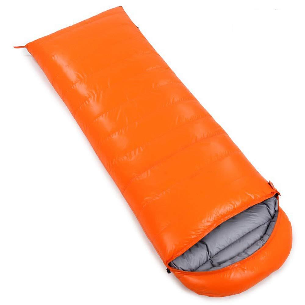 Orange 1000gvelours SMILINGGIRL Sac De Couchage en Coton avec Sac De Compression, 3-4 Saisons, Facile à Transporter, Léger, Compact, pour Le Camping, La Randonnée Et Les Voyages