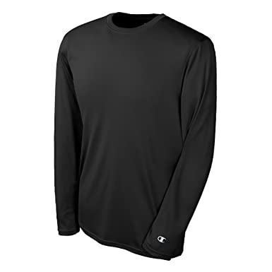 cc980250bde0 Champion Men s Double Dry Long Sleeve Tee Black 3XL