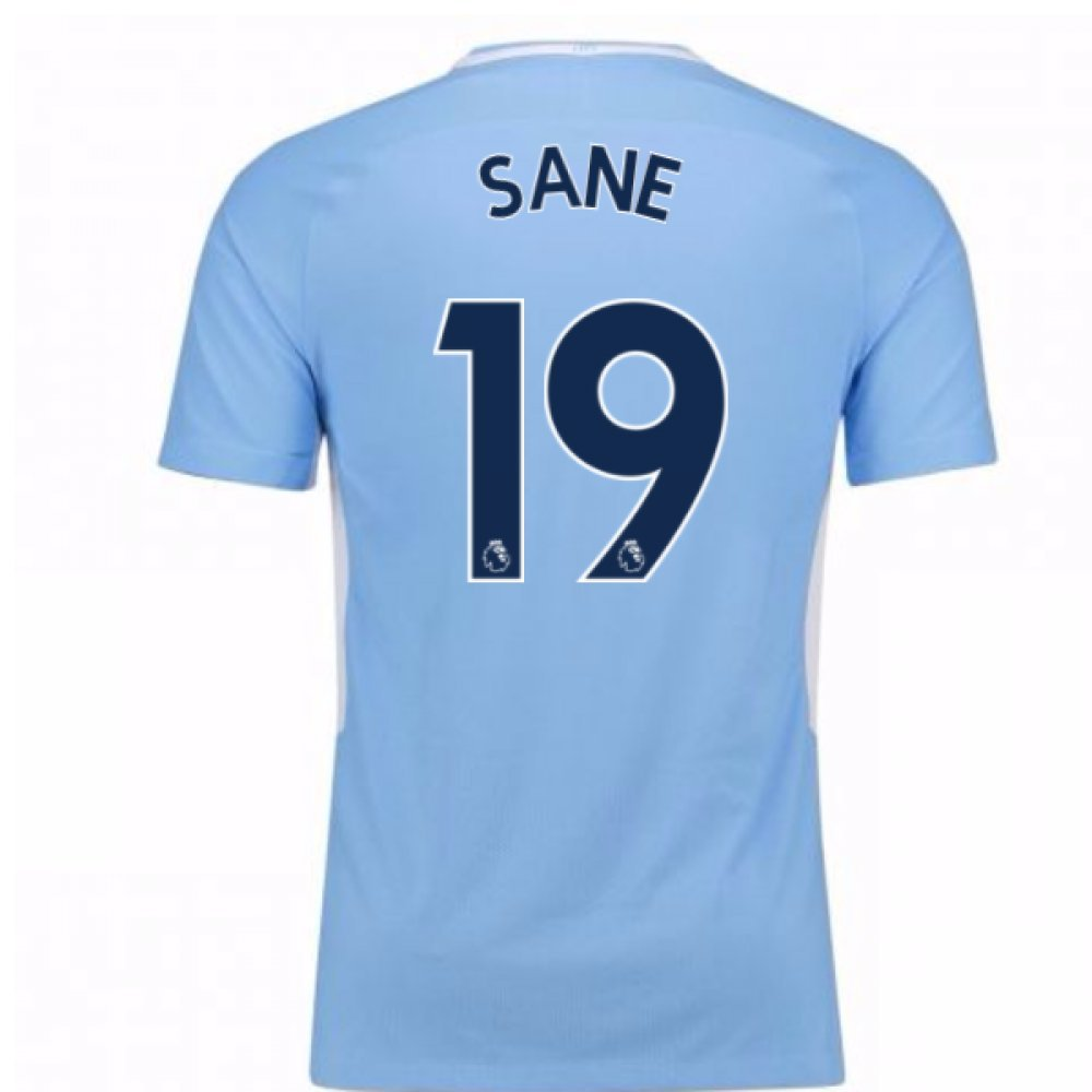 2017-18 Man City Home Football Soccer T-Shirt Trikot (Leroy Sane 19)