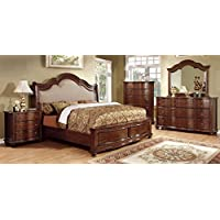 Furniture of America CM7350N Bellavista Brown Cherry Nightstand