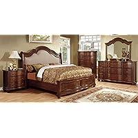 Furniture of America CM7350N Bellavista Brown Cherry Nightstand
