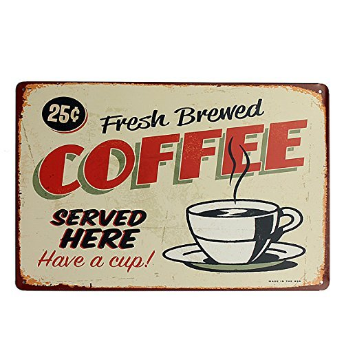 Pub Plaque (Coffee Tin Sign Retro Vintage Metal Plaque Bar Pub Cafe Wall Decor)