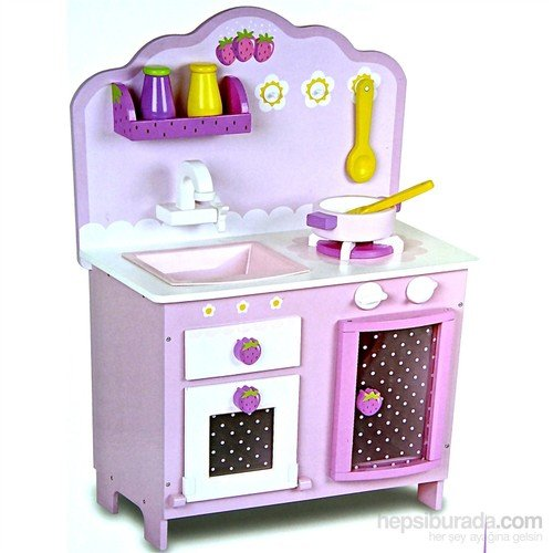 Serra Baby Educational Wooden Strawberry Kitchen Set by Serra Baby