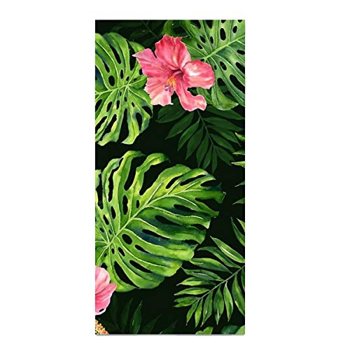 Floral Tropical Washcloth - Tropical Floral Super Absorbent Bath Hair towel Microfiber hand Towels custom Fast Drying washcloth