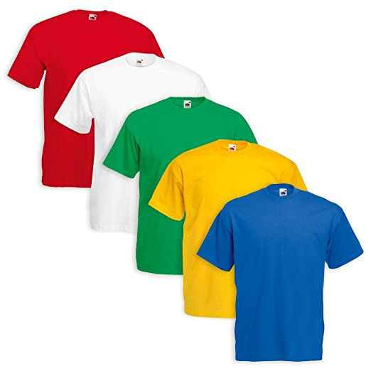 506 opinioni per Set 5 T-Shirt Fruit Of The Loom