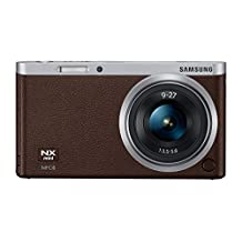 """Samsung NX Mini 20.5MP CMOS Smart WiFi & NFC Compact Interchangeable Lens Digital Camera with 9-27mm Lens and 3"""" Flip Up LCD Touch Screen (Brown)"""